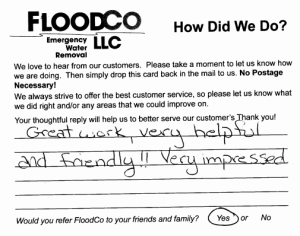 Floodco Comment  VII