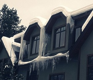 ice dam on condo roof